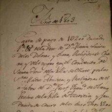 Manuscritos antiguos: MANUSCRITO DEL CONVENTO DE SANTA ANA DE OÑATE 1803. Lote 45772563