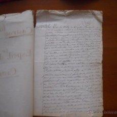 Manuscritos antiguos: ZAMORA, DESLINDE DE CASTROGONZALO Y CASTROPEPE, 1876, 8 PAGS Y CUBIERTA. Lote 45821824