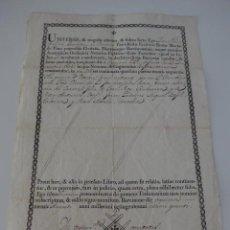 Manuscritos antiguos: ANTIGUO DOCUMENTO DE 1801 A ESTUDIAR, ZONA CATALUNYA, BARCELONA. Lote 46048038