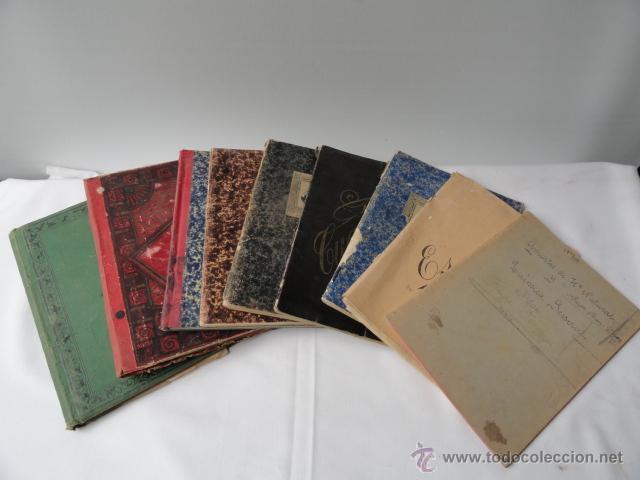LOTE DE 9 CUADERNOS DE APUNTES MANUSCRITOS. (Coleccionismo - Documentos - Manuscritos)