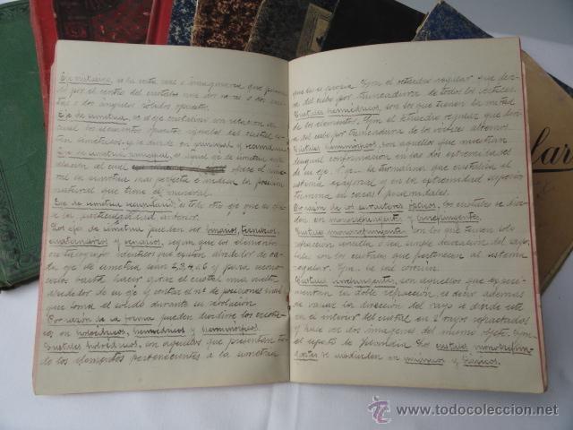 Manuscritos antiguos: LOTE DE 9 CUADERNOS DE APUNTES MANUSCRITOS. - Foto 2 - 46166934