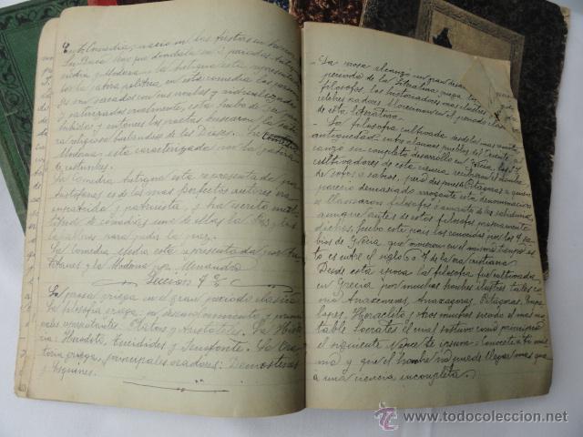 Manuscritos antiguos: LOTE DE 9 CUADERNOS DE APUNTES MANUSCRITOS. - Foto 3 - 46166934