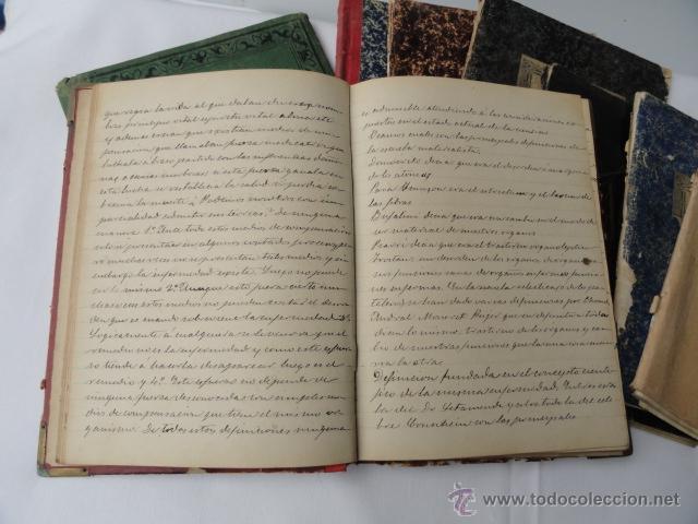 Manuscritos antiguos: LOTE DE 9 CUADERNOS DE APUNTES MANUSCRITOS. - Foto 4 - 46166934