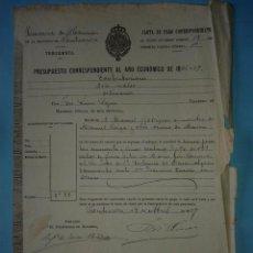 Manuscritos antiguos: CARTA DE PAGO, CUBIERTA A MANO, DE 9 DE ABRIL DE 1887.. Lote 46232415