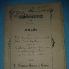 Manuscritos antiguos: ESCRITURA PÚBLICA DE VENTA, OTORGADA EN ORENSE EL 8 DE ENERO DE 1887.. Lote 46233887