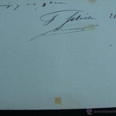 Manuscritos antiguos: FIRMA ORIGINAL DE FRANCISCO SILVELA. PRESIDENTE CONSEJO MINISTROS, MINISTRO GOBERNACIÓN, JUSTICIA.... Lote 46562974