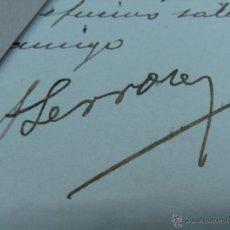 Manuscritos antiguos: FIRMA ORIGINAL DE ALEJANDRO LERROUX. PRESIDENTE DE LA SEGUNDA REPÚBLICA. CÓRDOBA.. Lote 46563390