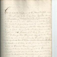 Manuscritos antiguos: 1838 - MANUSCRITO- SEGOVIA - COPIA DE LA ESCRITURA DE CESIÓN DEL PATRONATO REAL DE LEGOS. Lote 46743794