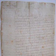 Manuscritos antiguos: SURIA AÑO 1724 BARCELONA * ALCALDE Y REGIDORES SUPLICAN AL OBISPO DE VIC CONTRA EL RECTOR JAUME MUNT. Lote 46961996
