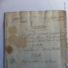 Manuscritos antiguos: MANUSCRITO JUDICIAL J TRIBIÑO A MONTALBO VARGAS PAGOS CENSO GRANADA 1828- SELLO FISCAL FERNANDO VII. Lote 47007723
