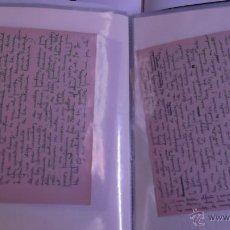 Manuscritos antiguos: DURANCAMPS MANUSCRITO ORIGINAL DE SU OBRA LACRAS DE LA PINTURA ACTUAL ( SABADELL ) INCLUYE LIBRO. Lote 47206740
