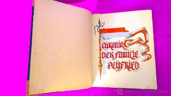 Manuscritos antiguos: MANUSCRITO ORIGINAL DE LA GENEALOGIA DE LA FAMILIA SEYFRIED CON DIBUJOS HECHO A MANO 1890 - Foto 2 - 47265316