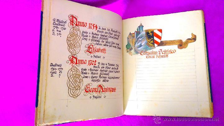 Manuscritos antiguos: MANUSCRITO ORIGINAL DE LA GENEALOGIA DE LA FAMILIA SEYFRIED CON DIBUJOS HECHO A MANO 1890 - Foto 4 - 47265316