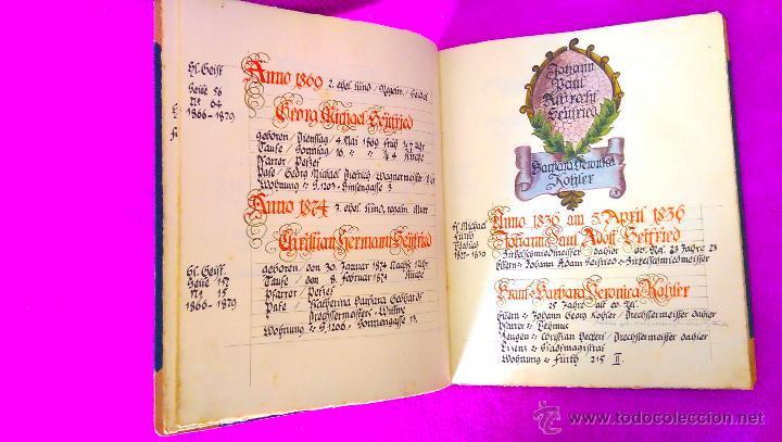 Manuscritos antiguos: MANUSCRITO ORIGINAL DE LA GENEALOGIA DE LA FAMILIA SEYFRIED CON DIBUJOS HECHO A MANO 1890 - Foto 5 - 47265316