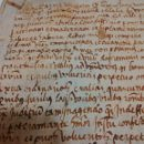 Manuscritos antiguos: MANUSCRITO DE PERGAMINO LETRAS GOTICAS 1.575 - GIRONA. Lote 47269182