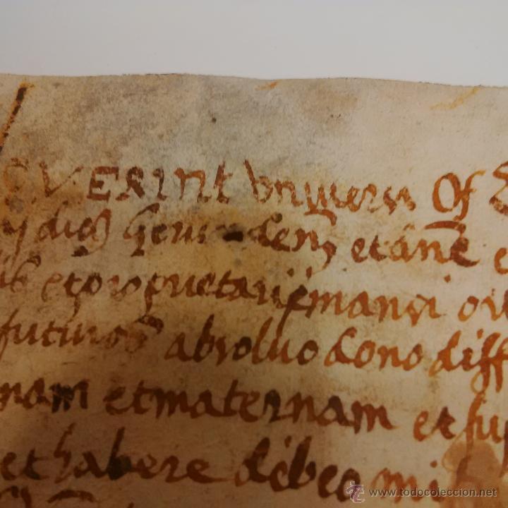 Manuscritos antiguos: MANUSCRITO DE PERGAMINO LETRAS GOTICAS 1.575 - GIRONA - Foto 9 - 47269182