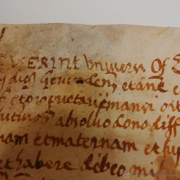 Manuscritos antiguos: MANUSCRITO DE PERGAMINO LETRAS GOTICAS 1.575 - GIRONA - Foto 10 - 47269182