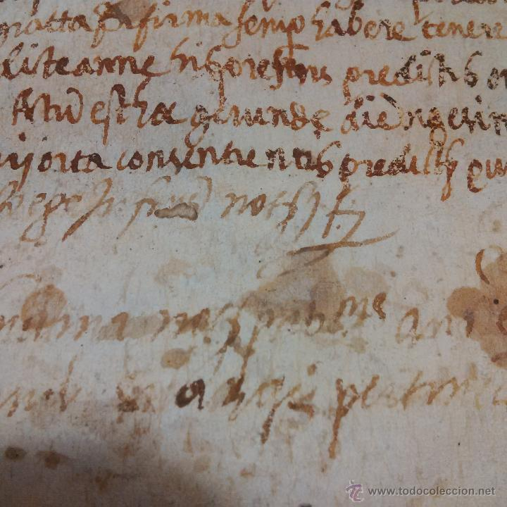 Manuscritos antiguos: MANUSCRITO DE PERGAMINO LETRAS GOTICAS 1.575 - GIRONA - Foto 11 - 47269182