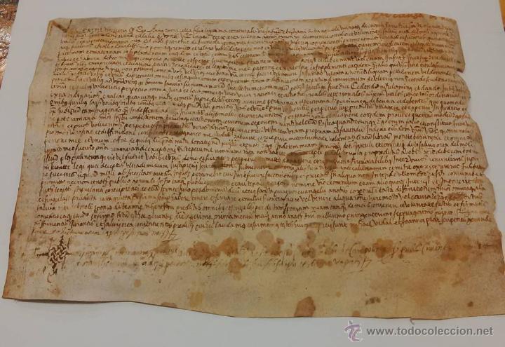 Manuscritos antiguos: MANUSCRITO DE PERGAMINO LETRAS GOTICAS 1.575 - GIRONA - Foto 12 - 47269182