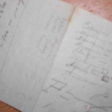 Manuscritos antiguos: ANTIGUO MANUSCRITO FORMULA MATEMATICA CON DIBUJOS. Lote 47479955