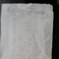 Manuscritos antiguos: DOCUMENTO MANUSCRITO, TESTAMENTO . SIGLO XVII, (1692 )SELLO ESCUDO REAL DE CARLOS II.. Lote 47515788