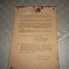 Manuscritos antiguos: DOCUMENTO Y TELA DE SAN LUIS GONZAGA EN CHIERI. Lote 47528492