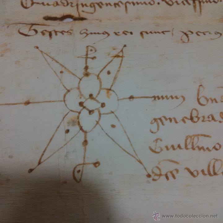 Manuscritos antiguos: MANUSCRITO DE PERGAMINO AÑO 1.421 LETRAS GOTICAS -GRANOLLERS BARCELONA - Foto 2 - 47560916