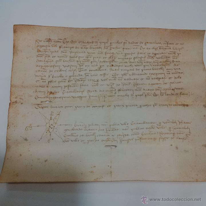 Manuscritos antiguos: MANUSCRITO DE PERGAMINO AÑO 1.421 LETRAS GOTICAS -GRANOLLERS BARCELONA - Foto 4 - 47560916