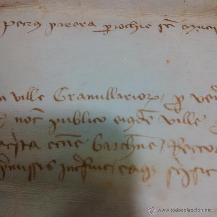 Manuscritos antiguos: MANUSCRITO DE PERGAMINO AÑO 1.421 LETRAS GOTICAS -GRANOLLERS BARCELONA - Foto 5 - 47560916