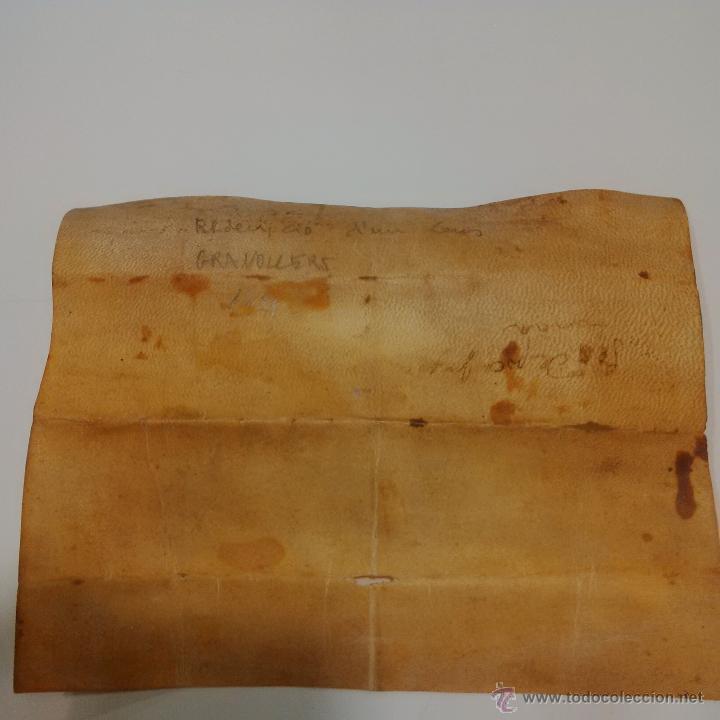 Manuscritos antiguos: MANUSCRITO DE PERGAMINO AÑO 1.421 LETRAS GOTICAS -GRANOLLERS BARCELONA - Foto 7 - 47560916