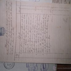 Manuscritos antiguos: MANUSCRITO DOCUMENTO CON SELLOS TIMBRE DE CAÑETE 1914 4 PAGINAS INTERESANTE. Lote 47614786