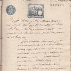 Manuscritos antiguos: MANUSCRITO ANTIGUO DEL JUZGADO MUNICIPAL DE VINYOLS I ELS ARCS -VIÑOLS- 1891 CON DIFERENTES TIMBRES. Lote 47749647