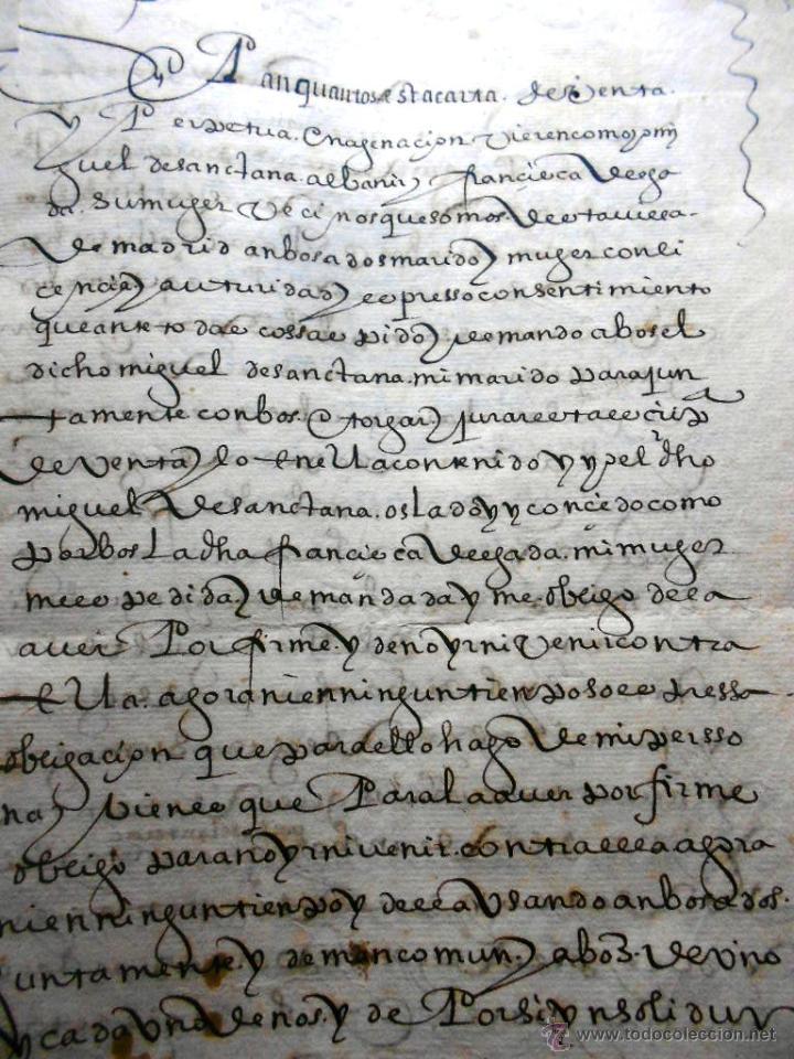 MANUSCRITO VILLA MADRID S- XVI-XVIII, UNAS 60 ESCRITURAS CON 250 FOLIOS SOLAR CALLE MADERA ALTA---- (Coleccionismo - Documentos - Manuscritos)