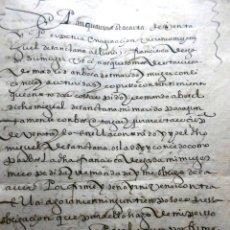 Manuscritos antiguos: MANUSCRITO VILLA MADRID S- XVI-XVIII, UNAS 60 ESCRITURAS CON 250 FOLIOS SOLAR CALLE MADERA ALTA----. Lote 47798296