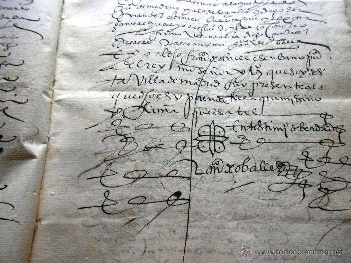 Manuscritos antiguos: MANUSCRITO VILLA MADRID S- XVI-XVIII, UNAS 60 ESCRITURAS CON 250 FOLIOS SOLAR CALLE MADERA ALTA---- - Foto 4 - 47798296
