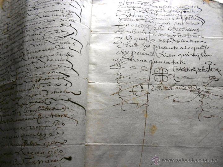 Manuscritos antiguos: MANUSCRITO VILLA MADRID S- XVI-XVIII, UNAS 60 ESCRITURAS CON 250 FOLIOS SOLAR CALLE MADERA ALTA---- - Foto 6 - 47798296