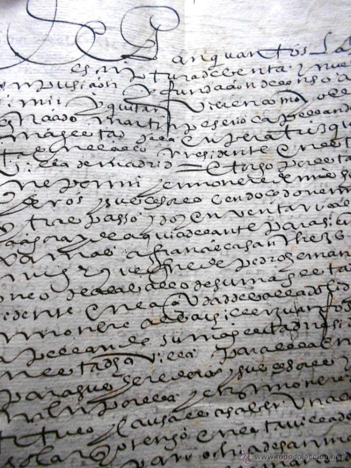 Manuscritos antiguos: MANUSCRITO VILLA MADRID S- XVI-XVIII, UNAS 60 ESCRITURAS CON 250 FOLIOS SOLAR CALLE MADERA ALTA---- - Foto 8 - 47798296
