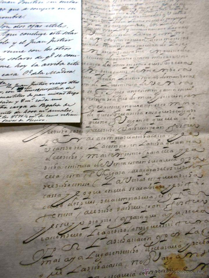 Manuscritos antiguos: MANUSCRITO VILLA MADRID S- XVI-XVIII, UNAS 60 ESCRITURAS CON 250 FOLIOS SOLAR CALLE MADERA ALTA---- - Foto 9 - 47798296