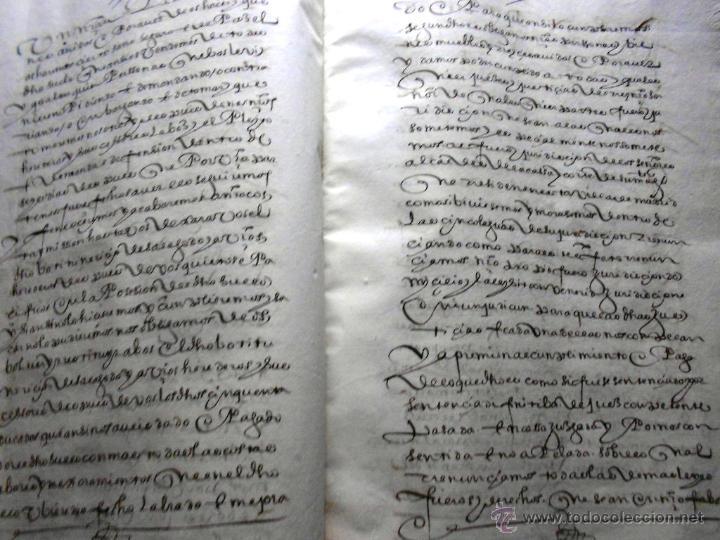 Manuscritos antiguos: MANUSCRITO VILLA MADRID S- XVI-XVIII, UNAS 60 ESCRITURAS CON 250 FOLIOS SOLAR CALLE MADERA ALTA---- - Foto 10 - 47798296