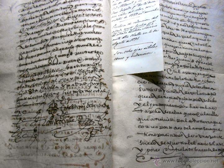 Manuscritos antiguos: MANUSCRITO VILLA MADRID S- XVI-XVIII, UNAS 60 ESCRITURAS CON 250 FOLIOS SOLAR CALLE MADERA ALTA---- - Foto 11 - 47798296