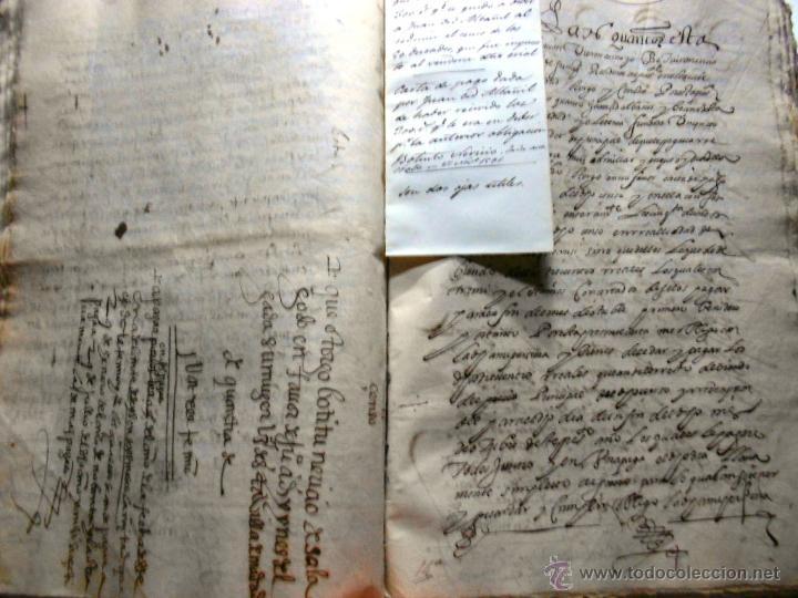 Manuscritos antiguos: MANUSCRITO VILLA MADRID S- XVI-XVIII, UNAS 60 ESCRITURAS CON 250 FOLIOS SOLAR CALLE MADERA ALTA---- - Foto 12 - 47798296
