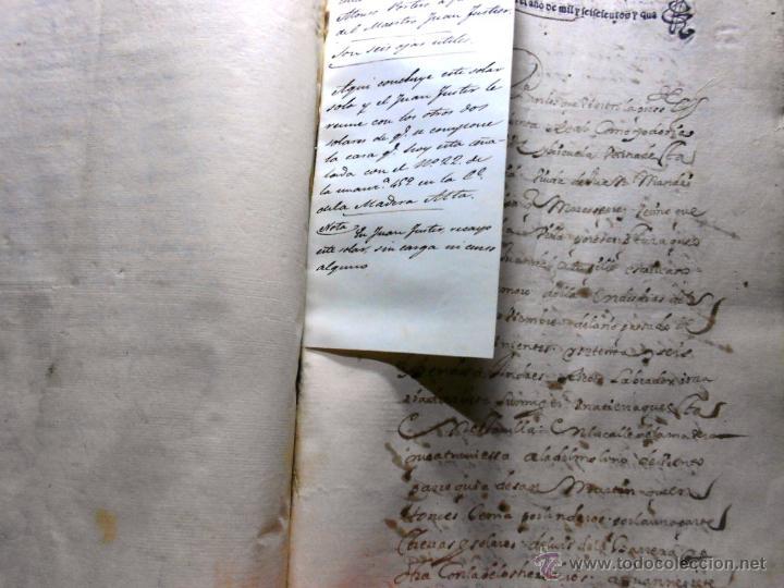 Manuscritos antiguos: MANUSCRITO VILLA MADRID S- XVI-XVIII, UNAS 60 ESCRITURAS CON 250 FOLIOS SOLAR CALLE MADERA ALTA---- - Foto 13 - 47798296