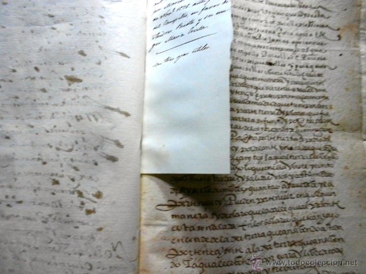 Manuscritos antiguos: MANUSCRITO VILLA MADRID S- XVI-XVIII, UNAS 60 ESCRITURAS CON 250 FOLIOS SOLAR CALLE MADERA ALTA---- - Foto 14 - 47798296
