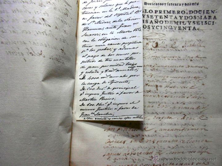 Manuscritos antiguos: MANUSCRITO VILLA MADRID S- XVI-XVIII, UNAS 60 ESCRITURAS CON 250 FOLIOS SOLAR CALLE MADERA ALTA---- - Foto 18 - 47798296