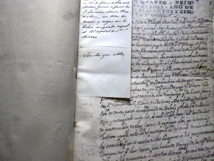 Manuscritos antiguos: MANUSCRITO VILLA MADRID S- XVI-XVIII, UNAS 60 ESCRITURAS CON 250 FOLIOS SOLAR CALLE MADERA ALTA---- - Foto 19 - 47798296