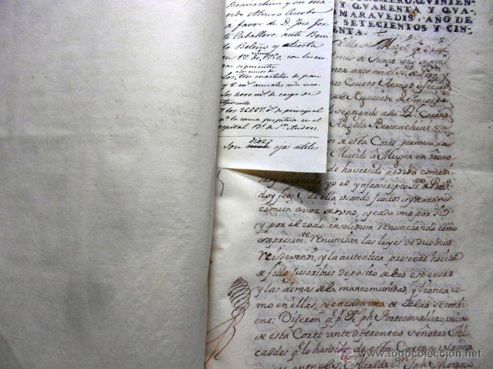 Manuscritos antiguos: MANUSCRITO VILLA MADRID S- XVI-XVIII, UNAS 60 ESCRITURAS CON 250 FOLIOS SOLAR CALLE MADERA ALTA---- - Foto 20 - 47798296