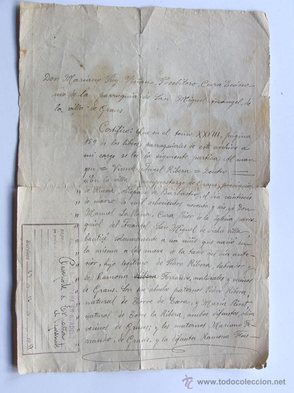 certificado nacimiento con sello expedicion pas - Comprar ...