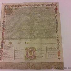 Manuscritos antiguos: MANUSCRITO PRIVILEGIO RODADO A DON ALVARO DE LUNA FACSIMIL AÑO 1424 CASTILLO DE BAYUELA MADRID. Lote 195789146