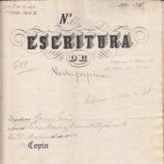 Manuscritos antiguos: ESCRITURA DE VENTA PERPETUA AÑO 1888 - ----NOTARIO DE CORNUDELLA-----(TARRAGONA). Lote 47936914
