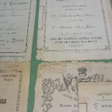 Manuscritos antiguos: 46 DOCUMENTOS (COPIA DE ESCRITURA) DE 1850 A 1912 COLEGIO DE VALENCIA. Lote 48493333